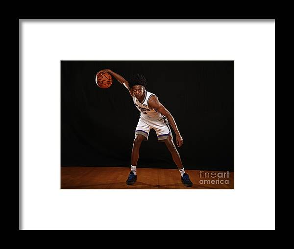 Nba Pro Basketball Framed Print featuring the photograph De'aaron Fox by Brian Babineau