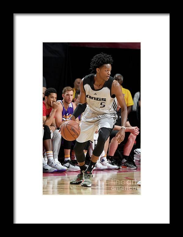 Nba Pro Basketball Framed Print featuring the photograph De'aaron Fox by Garrett Ellwood