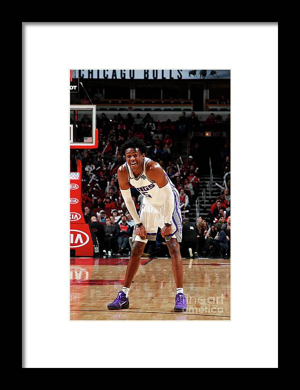 Nba Pro Basketball Framed Print featuring the photograph De'aaron Fox by Jeff Haynes