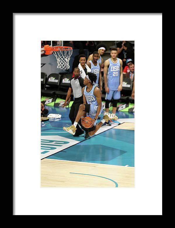 Nba Pro Basketball Framed Print featuring the photograph De'aaron Fox by Kent Smith