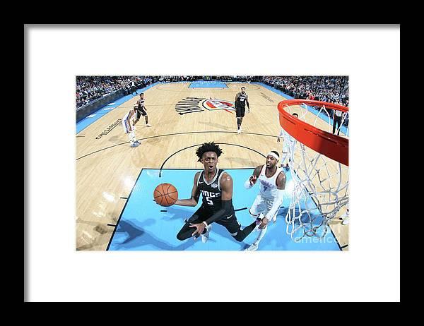 Nba Pro Basketball Framed Print featuring the photograph De'aaron Fox by Layne Murdoch