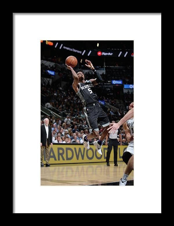 Nba Pro Basketball Framed Print featuring the photograph De'aaron Fox by Mark Sobhani
