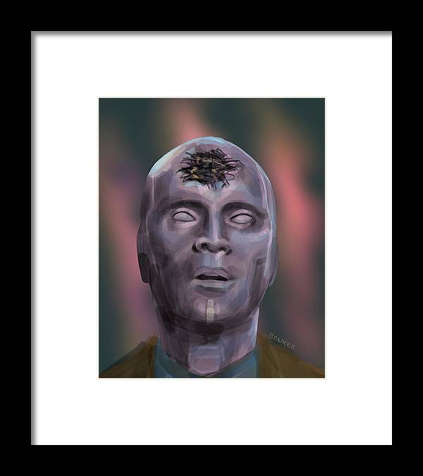 Vision Framed Print featuring the digital art Dead Vision by Buffalo Bonker