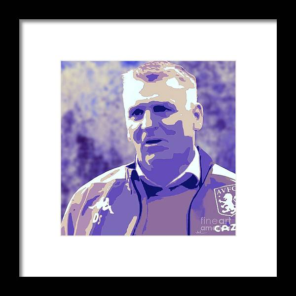 Aston Villa Framed Print featuring the painting Dean Smith by Jack Bunds