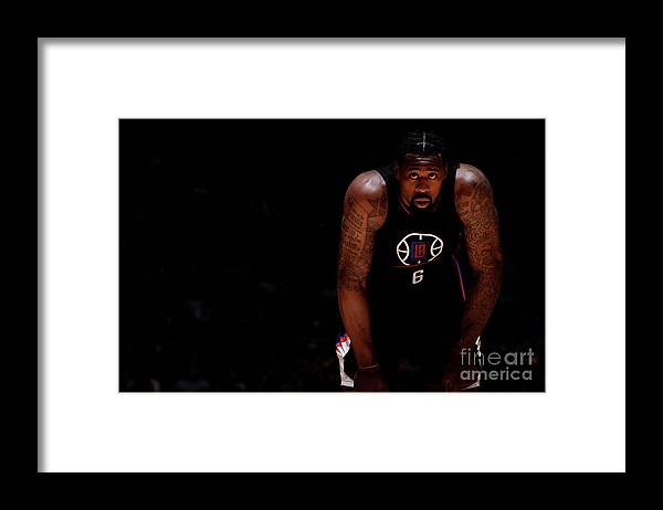 Nba Pro Basketball Framed Print featuring the photograph Deandre Jordan by Bart Young