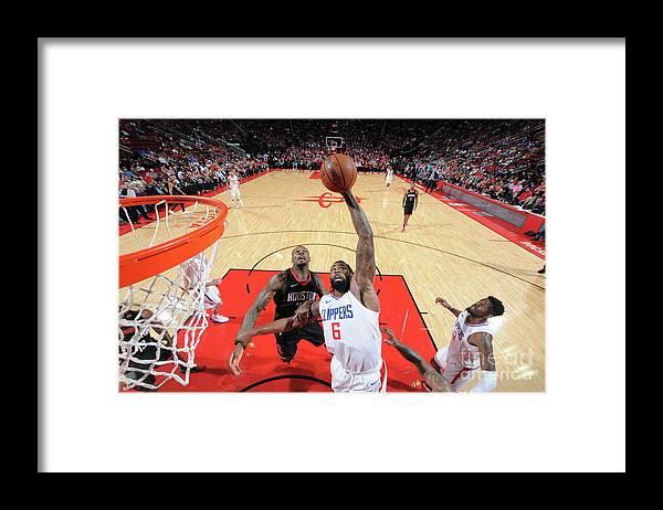 Nba Pro Basketball Framed Print featuring the photograph Deandre Jordan by Bill Baptist