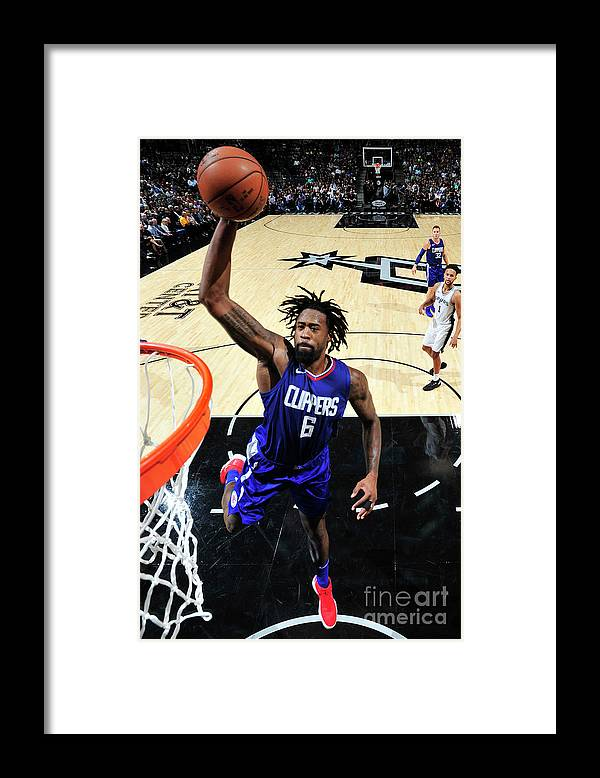 Nba Pro Basketball Framed Print featuring the photograph Deandre Jordan by Mark Sobhani