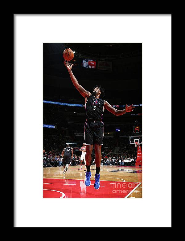 Nba Pro Basketball Framed Print featuring the photograph Deandre Jordan by Ned Dishman