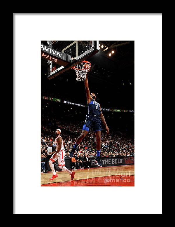 Nba Pro Basketball Framed Print featuring the photograph Deandre Jordan by Ron Turenne