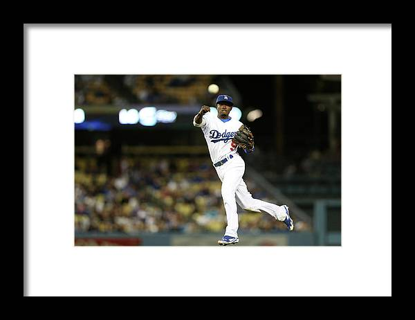 California Framed Print featuring the photograph Dee Gordon and Charlie Blackmon by Stephen Dunn