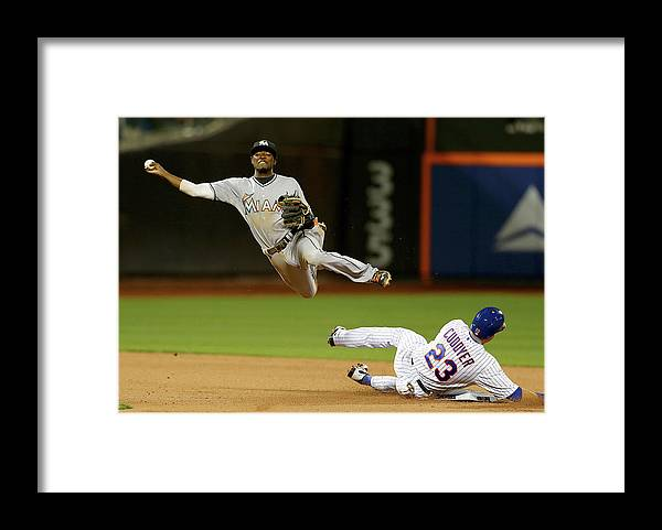 Double Play Framed Print featuring the photograph Dee Gordon and Michael Cuddyer by Elsa