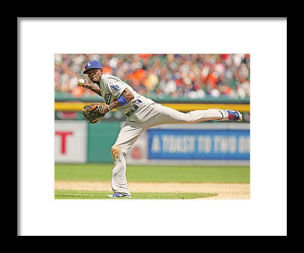 American League Baseball Framed Print featuring the photograph Dee Gordon by Duane Burleson