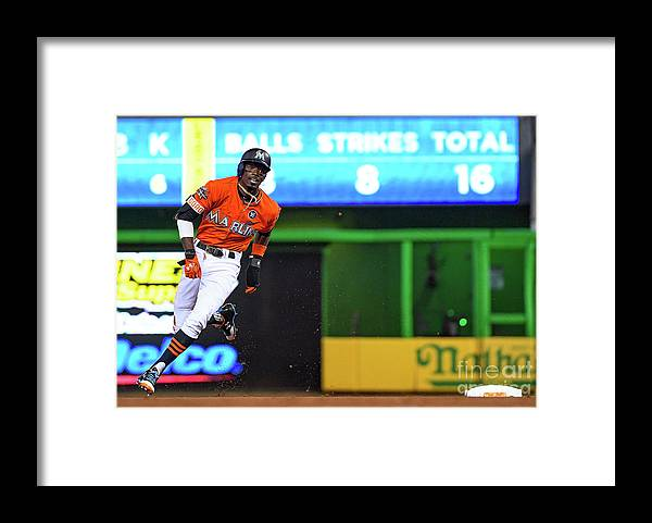 People Framed Print featuring the photograph Dee Gordon by Mark Brown
