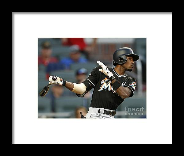 Atlanta Framed Print featuring the photograph Dee Gordon by Mike Zarrilli