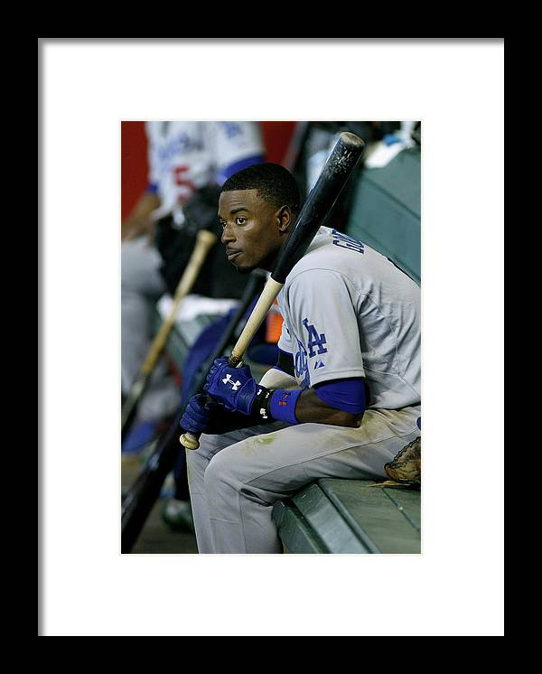 Ninth Inning Framed Print featuring the photograph Dee Gordon by Ralph Freso