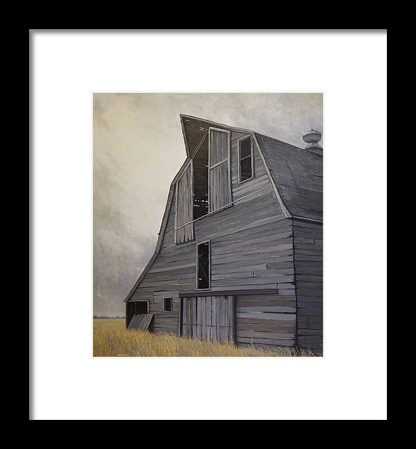 Framed Print featuring the painting Defiance by Mary Jo Van Dell