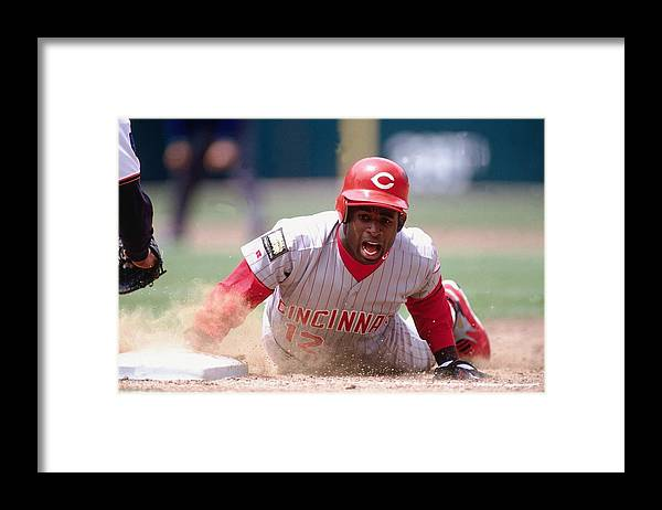 Motion Framed Print featuring the photograph Deion Sanders by Ronald C. Modra/sports Imagery