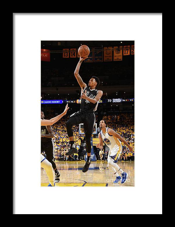 Playoffs Framed Print featuring the photograph Dejounte Murray by Andrew D. Bernstein
