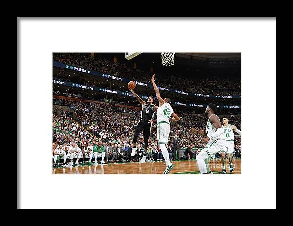 Nba Pro Basketball Framed Print featuring the photograph Dejounte Murray by Brian Babineau