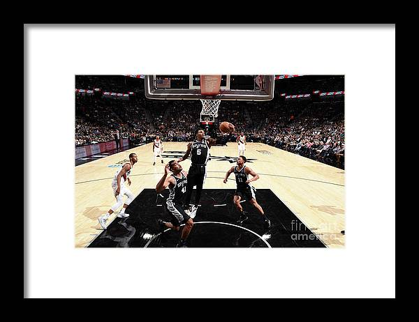 Nba Pro Basketball Framed Print featuring the photograph Dejounte Murray by Garrett Ellwood