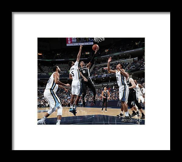 Nba Pro Basketball Framed Print featuring the photograph Dejounte Murray by Joe Murphy