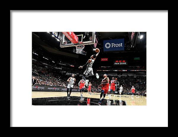 Nba Pro Basketball Framed Print featuring the photograph Dejounte Murray by Logan Riely