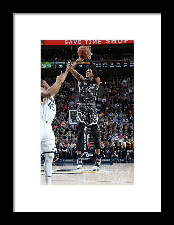 Nba Pro Basketball Framed Print featuring the photograph Dejounte Murray by Melissa Majchrzak