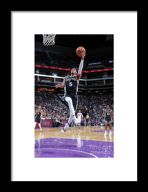 Nba Pro Basketball Framed Print featuring the photograph Dejounte Murray by Rocky Widner
