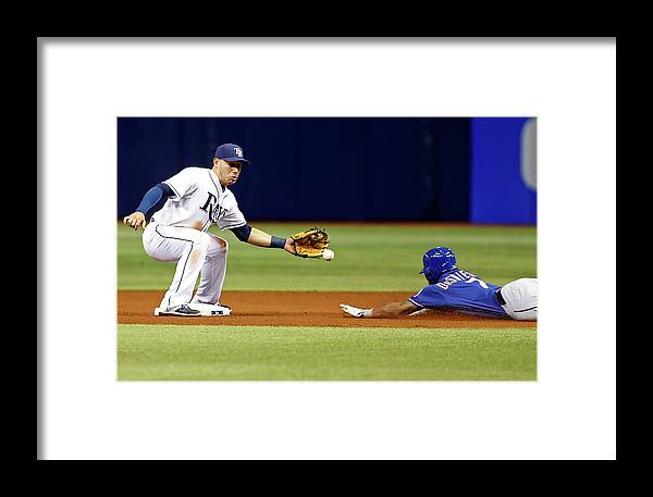 People Framed Print featuring the photograph Delino Deshields by Brian Blanco