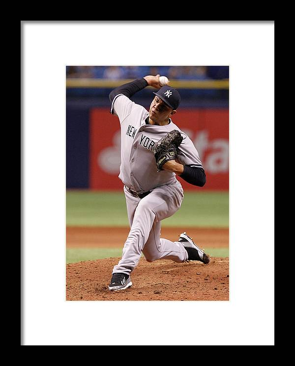 American League Baseball Framed Print featuring the photograph Dellin Betances by Brian Blanco
