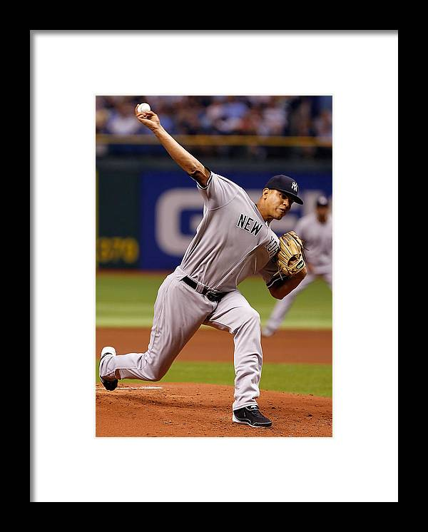American League Baseball Framed Print featuring the photograph Dellin Betances by J. Meric