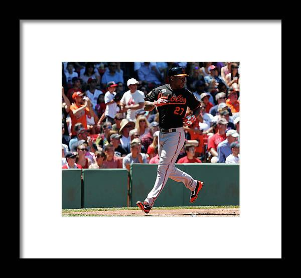American League Baseball Framed Print featuring the photograph Delmon Young and Xander Bogaerts by Jim Rogash