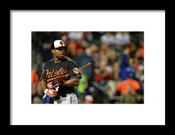 American League Baseball Framed Print featuring the photograph Delmon Young by Patrick Smith