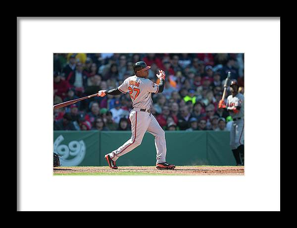 East Framed Print featuring the photograph Delmon Young by Rob Tringali