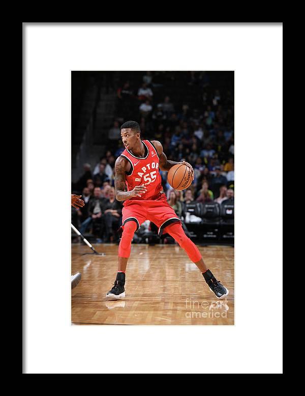 Nba Pro Basketball Framed Print featuring the photograph Delon Wright by Garrett Ellwood