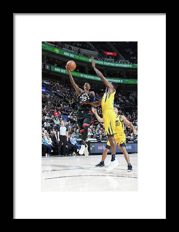 Nba Pro Basketball Framed Print featuring the photograph Delon Wright by Melissa Majchrzak