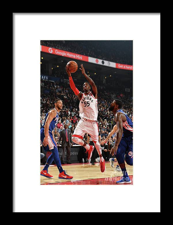 Nba Pro Basketball Framed Print featuring the photograph Delon Wright by Ron Turenne