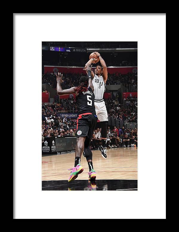Nba Pro Basketball Framed Print featuring the photograph Demar Derozan by Adam Pantozzi