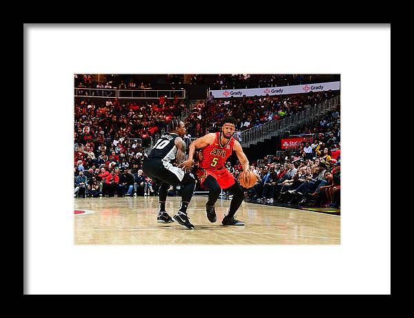 Atlanta Framed Print featuring the photograph Demar Derozan and Jabari Parker by Scott Cunningham
