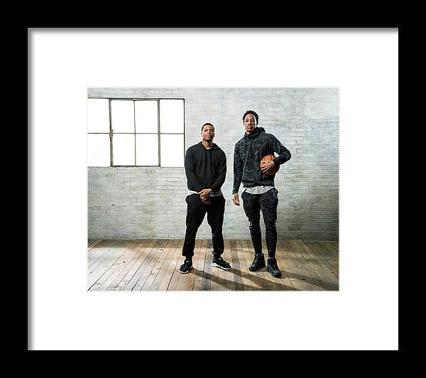 Nba Pro Basketball Framed Print featuring the photograph Demar Derozan and Kyle Lowry by Nathaniel S. Butler