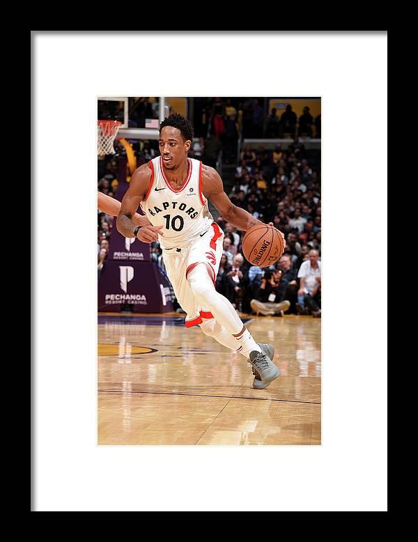 Nba Pro Basketball Framed Print featuring the photograph Demar Derozan by Andrew D. Bernstein