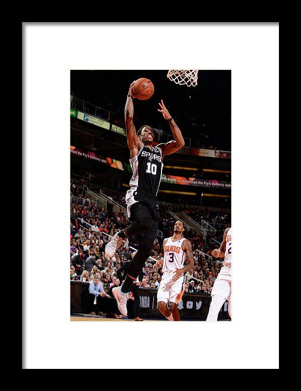 Nba Pro Basketball Framed Print featuring the photograph Demar Derozan by Barry Gossage