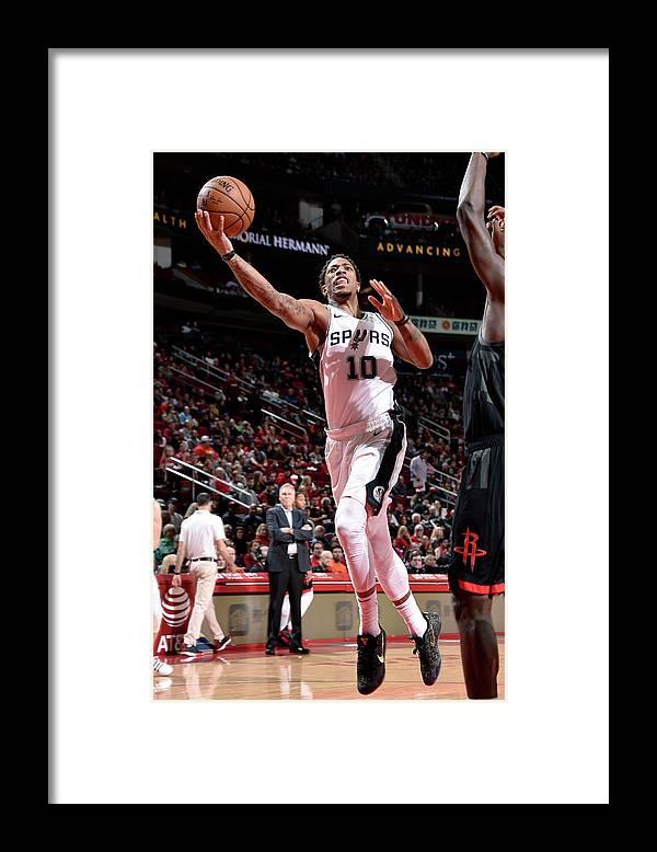 Nba Pro Basketball Framed Print featuring the photograph Demar Derozan by Bill Baptist