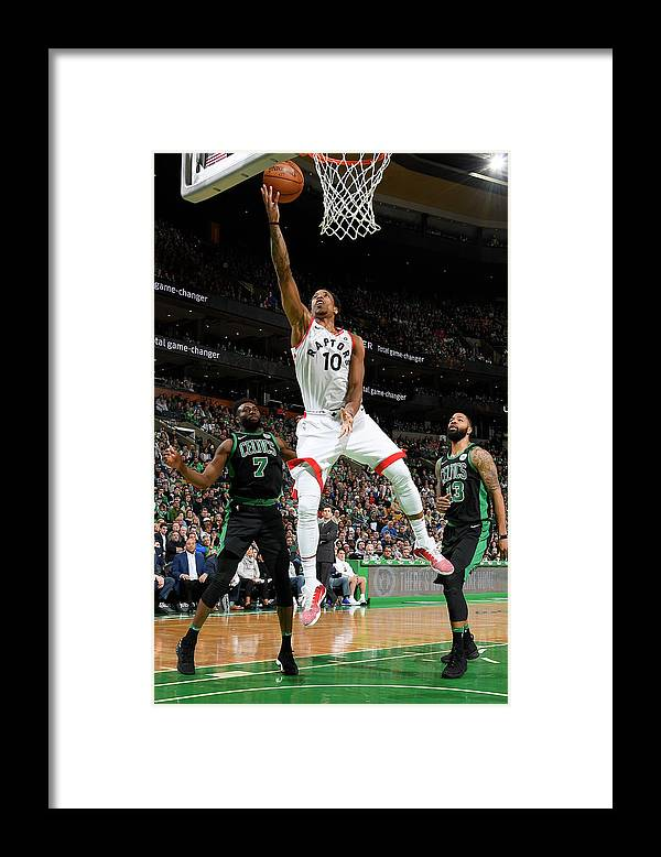 Nba Pro Basketball Framed Print featuring the photograph Demar Derozan by Brian Babineau