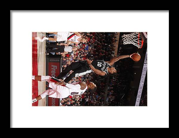 Nba Pro Basketball Framed Print featuring the photograph Demar Derozan by Cameron Browne