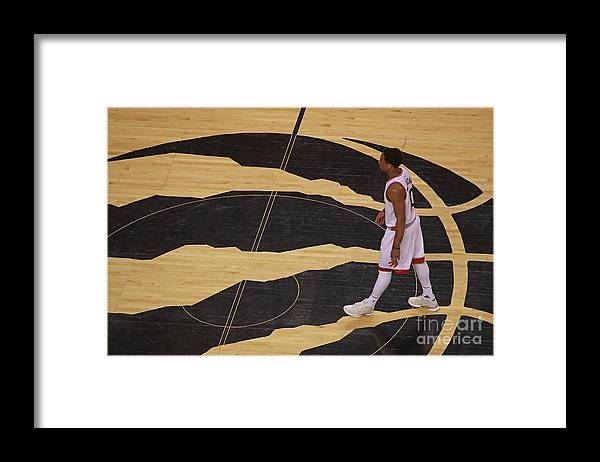Playoffs Framed Print featuring the photograph Demar Derozan by Dave Sandford