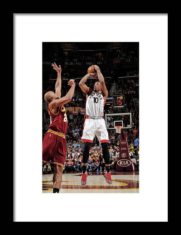 Nba Pro Basketball Framed Print featuring the photograph Demar Derozan by David Liam Kyle