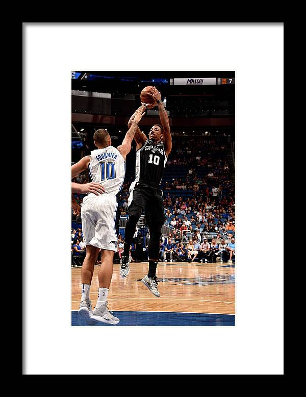 Nba Pro Basketball Framed Print featuring the photograph Demar Derozan by Gary Bassing
