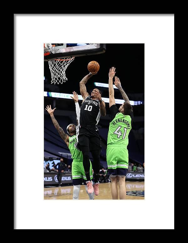 Nba Pro Basketball Framed Print featuring the photograph Demar Derozan by Jordan Johnson