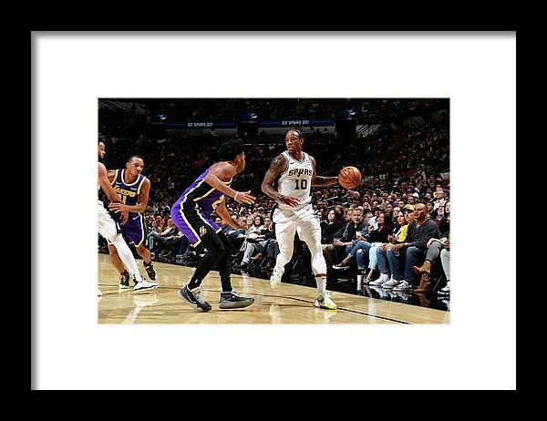 Nba Pro Basketball Framed Print featuring the photograph Demar Derozan by Logan Riely